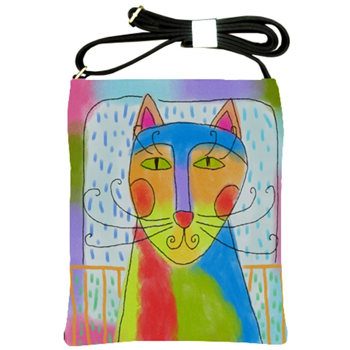 Colorful Cat Shoulder Sling Bag Shoulder Sling Bags