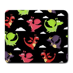 Cute Flying Dragons Large Mousepads