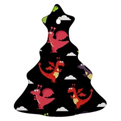 Cute Flying Dragons Christmas Tree Ornament (two Sides)
