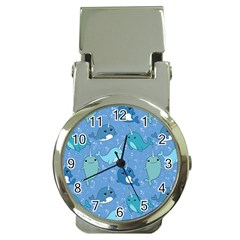 Cute Narwhal Pattern Money Clip Watches