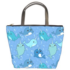 Cute Narwhal Pattern Bucket Bags