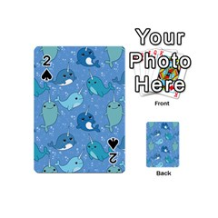 Cute Narwhal Pattern Playing Cards 54 (mini)