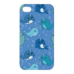 Cute Narwhal Pattern Apple Iphone 4/4s Hardshell Case