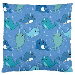 Cute Narwhal Pattern Large Cushion Case (two Sides)