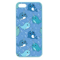 Cute Narwhal Pattern Apple Seamless Iphone 5 Case (color)