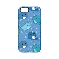 Cute Narwhal Pattern Apple Iphone 5 Classic Hardshell Case (pc+silicone)