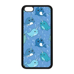 Cute Narwhal Pattern Apple Iphone 5c Seamless Case (black)