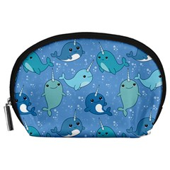 Cute Narwhal Pattern Accessory Pouches (large)