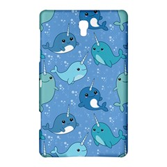 Cute Narwhal Pattern Samsung Galaxy Tab S (8 4 ) Hardshell Case