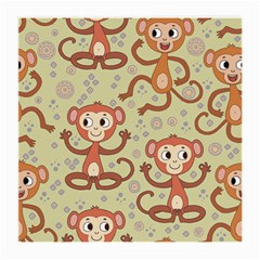 Cute Cartoon Monkeys Pattern Medium Glasses Cloth (2 Side)