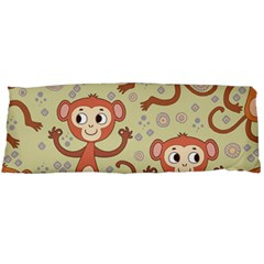 Cute Cartoon Monkeys Pattern Body Pillow Case Dakimakura (two Sides)