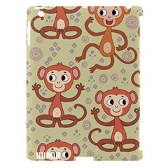 Cute Cartoon Monkeys Pattern Apple Ipad 3/4 Hardshell Case (compatible With Smart Cover)