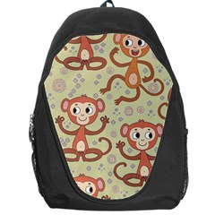 Cute Cartoon Monkeys Pattern Backpack Bag