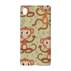 Cute Cartoon Monkeys Pattern Sony Xperia Z3+