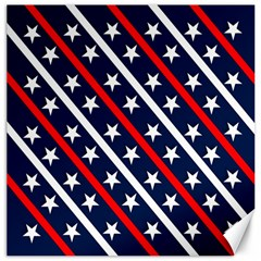 Patriotic Red White Blue Stars Canvas 20  X 20