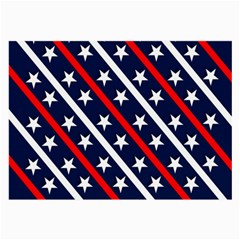 Patriotic Red White Blue Stars Large Glasses Cloth (2 Side)