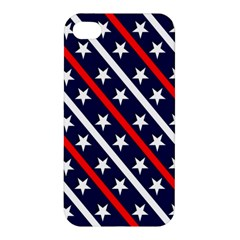 Patriotic Red White Blue Stars Apple Iphone 4/4s Premium Hardshell Case