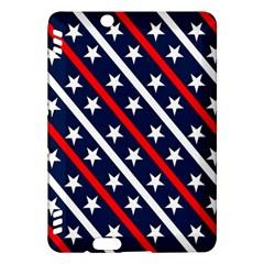 Patriotic Red White Blue Stars Kindle Fire Hdx Hardshell Case