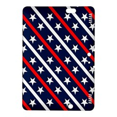 Patriotic Red White Blue Stars Kindle Fire Hdx 8 9  Hardshell Case
