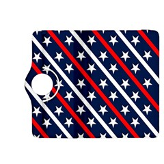 Patriotic Red White Blue Stars Kindle Fire Hdx 8 9  Flip 360 Case