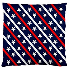 Patriotic Red White Blue Stars Standard Flano Cushion Case (one Side)