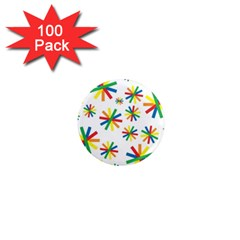 Celebrate Pattern Colorful Design 1  Mini Magnets (100 Pack)