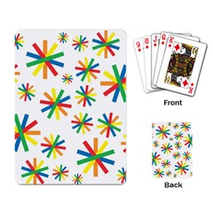 Celebrate Pattern Colorful Design Playing Card
