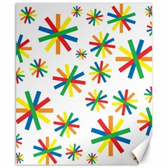 Celebrate Pattern Colorful Design Canvas 8  X 10