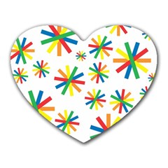 Celebrate Pattern Colorful Design Heart Mousepads