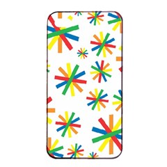 Celebrate Pattern Colorful Design Apple Iphone 4/4s Seamless Case (black)