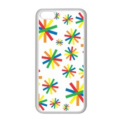 Celebrate Pattern Colorful Design Apple Iphone 5c Seamless Case (white)