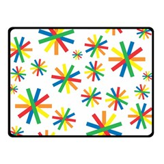 Celebrate Pattern Colorful Design Double Sided Fleece Blanket (small)
