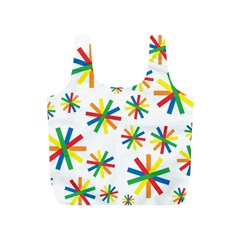 Celebrate Pattern Colorful Design Full Print Recycle Bags (s)
