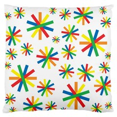 Celebrate Pattern Colorful Design Standard Flano Cushion Case (two Sides)