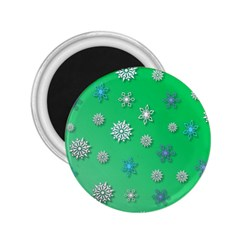 Snowflakes Winter Christmas Overlay 2 25  Magnets