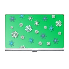 Snowflakes Winter Christmas Overlay Business Card Holders