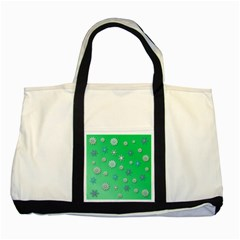 Snowflakes Winter Christmas Overlay Two Tone Tote Bag