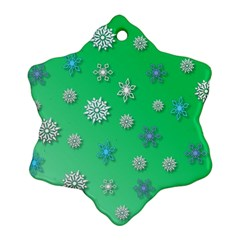 Snowflakes Winter Christmas Overlay Snowflake Ornament (two Sides)