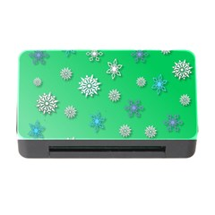 Snowflakes Winter Christmas Overlay Memory Card Reader With Cf