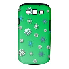 Snowflakes Winter Christmas Overlay Samsung Galaxy S Iii Classic Hardshell Case (pc+silicone)