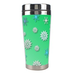 Snowflakes Winter Christmas Overlay Stainless Steel Travel Tumblers