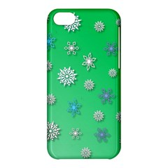 Snowflakes Winter Christmas Overlay Apple Iphone 5c Hardshell Case