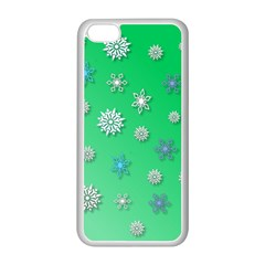 Snowflakes Winter Christmas Overlay Apple Iphone 5c Seamless Case (white)