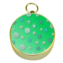 Snowflakes Winter Christmas Overlay Gold Compasses