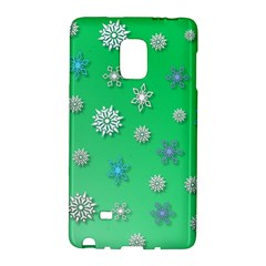 Snowflakes Winter Christmas Overlay Galaxy Note Edge