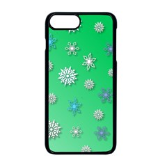Snowflakes Winter Christmas Overlay Apple Iphone 8 Plus Seamless Case (black)
