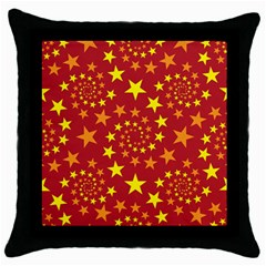Star Stars Pattern Design Throw Pillow Case (black)