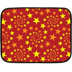 Star Stars Pattern Design Fleece Blanket (mini)