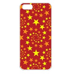 Star Stars Pattern Design Apple Iphone 5 Seamless Case (white)