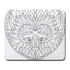 Heart Love Valentines Day Large Mousepads